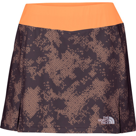 Fitness Not only are bunchy shorts annoying but unflattering as well. It's a blessing that The North Face came up with the Women's Eat My Dust Skirt because, whether you're racing up the trail, running on the beach, or out for a leisurely bike ride, this cute, flirty skirt has a comfy boy-short underneath that won't chafe, bind, or bunch. - $27.48