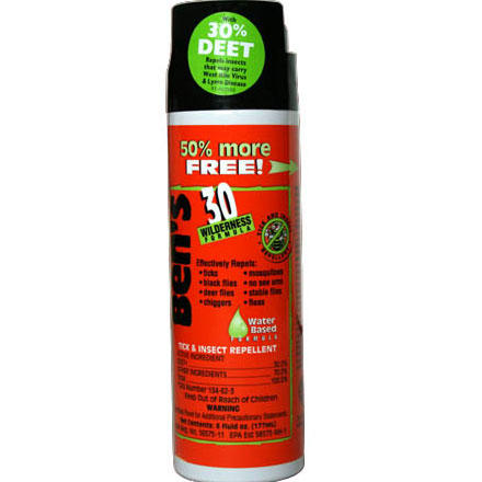 Camp and Hike If you're tired of swatting mosquitoes and flies, then try Adventure Medical Ben's 30 Tick & Insect Repellent and actually enjoy your hike. Not only does this Adventure Medical spray keep the flying insects away, Ben's 30 Tick & Insect Repellent also reduces the chances that you'll get home to find a blood-filled tick buried in your scalp. - $5.95