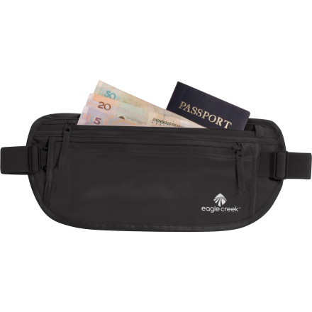 Entertainment Be as smooth as silk in how you stash your cash when you travel with the Eagle Creek Silk Undercover Money Belt. A zippered coin pouch keeps your jangle in line while you roam ancient European streets. - $30.00