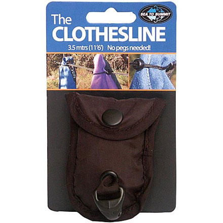 Camp and Hike Bring the Sea To Summit Lite Line Clothesline on camping and hotel-traveling trips. This clothesline stows away in a tiny nylon pouch, and the dual cord with beads work together to keep your garments secure on the line. The Lite Line Clothesline gives you a bit more than 11 feet of hanging goodness, so you can wash and dry without having to resort to hanging undies on tree limbs or over hotel balconies. Plus, this Sea To Summit line only weighs 1.3 ounces. - $5.57