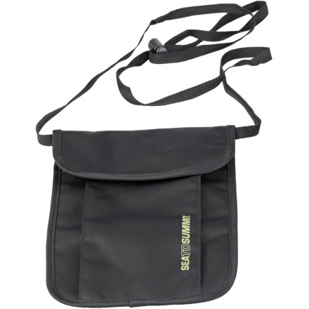 Entertainment The further you are from homebase, the more crucial it is to keep your money, ID, and passport in order. The low-profile, three-pocket Sea To Summit TravellingLight Neck Pouch securely stores these essential items with an adjustable neck strap, and keeps them dry thanks to the Ultra-Sil lining. For breathability's sake, the TravellingLight Neck Pouch also features 3D mesh for next-to-skin comfort. - $13.95