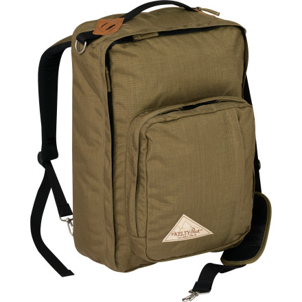Entertainment The Kelty Wind Jammer carries like a regular piece of luggage when you're casually strolling through the airport. When you spot security, kidnappers, con-men, or Jehovah's Witnesses you can pull out the hide-away shoulder straps, turn the Wind Jammer into a backpack, and haul ass. - $134.95
