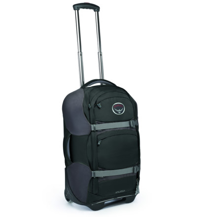 Entertainment Stroll through the security line with the Osprey Shuttle 22 Wheeled Gear Hauler behind you. The Shuttle 22 was designed to meet the maximum legal carry-on size requirements, and give you all the convenience of both a rolling gear bag and a small backpack. - $228.95
