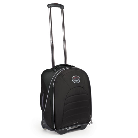 Entertainment Travel light with the Osprey Vector 18 Lightweight Wheeled Travel Bag. This carry-on-legal wheeled travel bag holds enough for a long weekend, and won't feel like you're dragging three toddlers through the airport. - $107.37