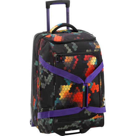 Entertainment The Burton Wheelie Cargo Rolling Gear Bag is a great in-between option for those trips when a carry-on won't cut it, but you don't want to haul around a bag the size of a coffin. - $181.93