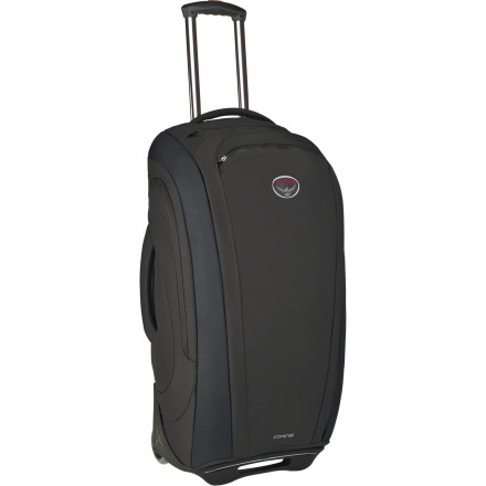 Entertainment If your motto is 'it's better to have and not need than to need and not have', you probably need some pretty serious luggage. The Osprey Contrail 28 Rolling Gear Bag is right up your alley. The Contrail 28 carries a whopping 75 Liters of luggage. Organizational features include external zippered side pockets, pockets on the inner front panel, a removable laundry bag, and the Osprey FlightLocker. - $338.95