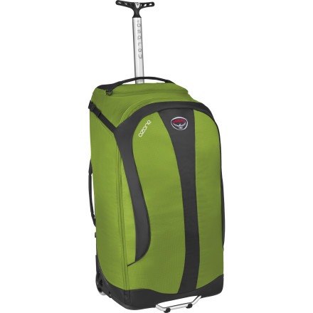 Entertainment Osprey designed the Ozone 28 Rolling Gear bag for travelers who light to travel light, but bring everything that they can get on a plane. The huge 80 Liter Ozone 28 weighs only 5 pounds, so the light weight of the bag takes some of the edge off deciding to bring absolutely everything. - $248.95