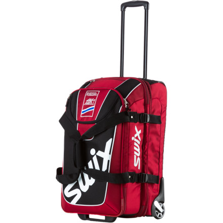 Ski Make your next overseas ski trip easy with the carry-on friendly Swix Expandable Up Right Gear Bag. The Up Right is packing a ton of features to make organization easy and travel comfortable. - $200.00