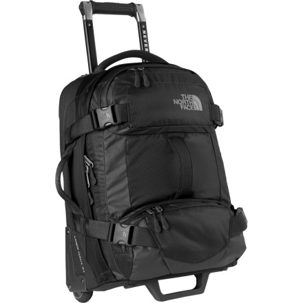 Entertainment Get set for your next globetrotting adventure with The North Face Longhaul 30 Rolling Gear Bag. The Longhaul is generously sized to hold your clothes and other necessities for a week or more, yet is cut narrow enough to slide easily down train aisles. - $298.95
