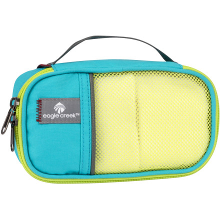 Entertainment Instead of a bunch of loose items tumbling around your pack, secure them inside the Eagle Creek Pack-It Quarter Cube. For ties, socks, chargers, toiletries, or banned liquids, this small zippered mesh keeps them separate from your other gear or travel essentials. - $8.50