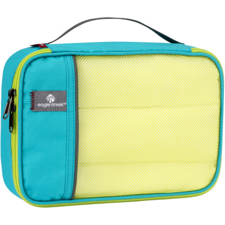 Entertainment Quit wasting time at the hotel rummaging for your swimsuit. Reach for the convenient Eagle Creek Pack-It Half Cube, complete with see-through, breathable mesh and a two-way zipper for ease of access. - $10.50