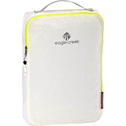 Entertainment If you want to organize your luggage without adding a bunch of excess packing-cube weight, check out the Eagle Creek Pack-It Specter Cube. This cube's lightweight fabric makes it easy to use one (or two or three) in your main luggage. Fill the cubes according to outfits or types of clothes and, on the way back, fill one with all your dirty laundry. - $15.95