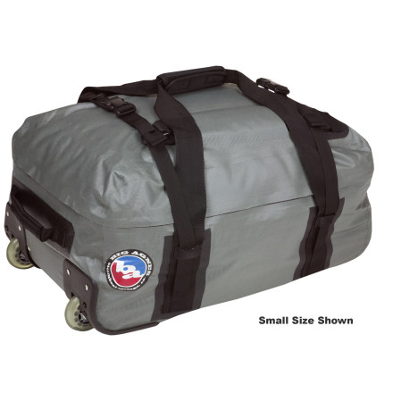 Camp and Hike Whether youre rolling it through the airport or satrapping it to the roof of a bus, the Big Agnes Stagecoach Waterproof Rolling Duffel Bag protects your gear from the prolonged abuse of your extended travels. Fully waterproof shell fabric keeps out moisture, and the sturdy aluminum frame provides support for your stuff. Hideaway backpack straps and a telescoping handle and wheels give you a carrying option, and a hidden zippered pocket under the removable interior bottom panel stows your contraband. - $143.16