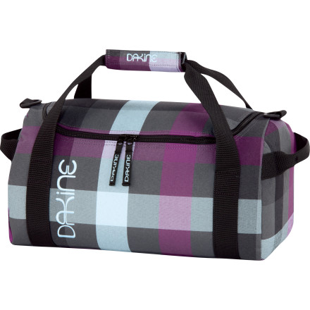 Camp and Hike The DAKINE EQ Duffel Bag features durable poly fabric and a big ol' U-shaped opening for easy packing, unpacking, cramming, and stuffing. A removable shoulder strap makes trips to the airport check-in counter less of a struggle. - $24.47