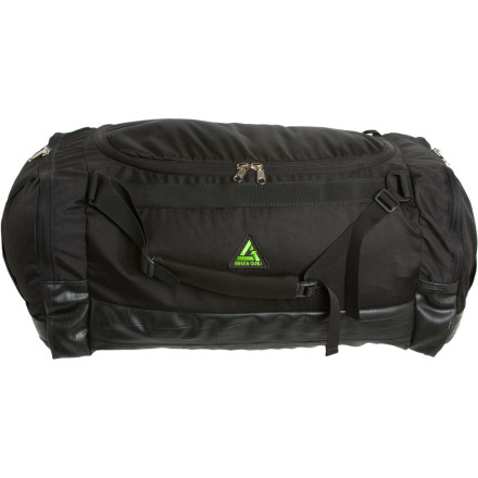 Camp and Hike You can set the Green Gear Guru Duffster Duffel Bag down anywhere from a muddy parking lot to a wet train station platform without worries thanks to its protective bottom made from repurposed bike tubes. In addition to this base armor, the Duffster boasts 100% recycled PETE fabric to compete its eco-friendly, yet rugged, Large main compartment and two side expandable pockets give you plenty of space to haul gearPadded haul handles can be converted to backpack straps profile.Large main compartment and two side expandable pockets give you plenty of space to haul gear Padded haul handles can be converted to backpack straps - $69.93
