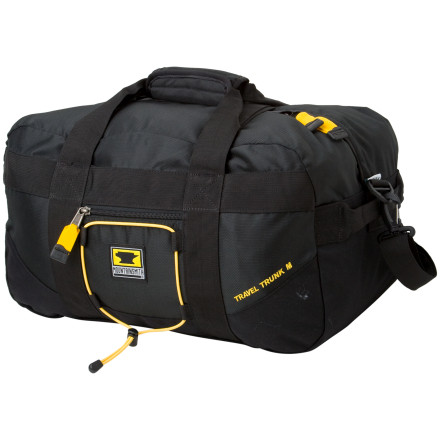 Camp and Hike This tough-as-nails travel duffel will go to the ends of the earth loaded with skiing, climbing, biking, hiking, and travel gear. Ballistic nylon reinforcements ensure the Travel Trunk Duffel can handle tons of weight, and this durable fabric sluffs off abrasion when being dragged around the airport. You can carry this travel duffel with either a removable shoulder strap or padded haul straps. If you've packed a ton of climbing gear, have a friend grab one of the end handles and share the load. Mountainsmith gave the Travel Trunk two quick release compression straps to manage bulky loads and a small internal zippered pocket to keep small items separate. - $59.95