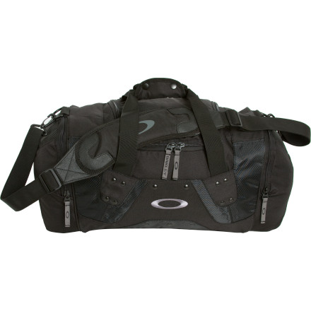 Camp and Hike Stuff the Oakley Men's Small Carry Duffel with a pair of shoes, your gym clothes, and a towel for the showers. A rubberized bottom keeps your gear dry when you set this bag on the gym floor, and a padded shoulder strap makes for easy hauling. Oakley gave this bad boy a ventilated mesh panel that helps sweaty moisture escape from within so your wet gear can dry out a little. - $40.00
