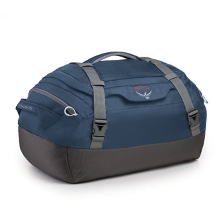 Camp and Hike Easy handling and simple travel storage is yours in the form of the Osprey Transporter 75 Duffel Bag. A spacious, padded interior protects your gear and clothing for everything from weekend trips to extended wanderings. - $88.95