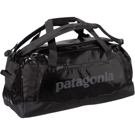 Camp and Hike Built with double-thick fabric, reinforced stitches, and a waterproof coating, the Patagonia Black Hole Duffel Bag 120 is tougher than a white rhino and hungry for all your gear. Padded shoulder straps convert this bag to a backpack-style hauler when you're tired from travel, and burly end handles put up with years of pulling, pushing, and dragging. Since Patagonia knows you value the environment, it used environmentally-conscious polyester in the Black Hole's construction and gave you an external organizer pocket for stashing your hemp lip balm. - $159.00