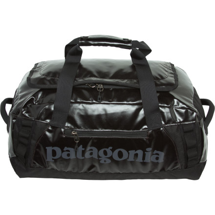 Camp and Hike You're just getting camp set up when you feel the first few drops of rain. As a few drops turns into a proper storm, your ready-for-anything Patagonia Black Hole Duffel 45 protects your gear from rain so you will have warm dry clothes to throw on after the sky clears. - $99.00