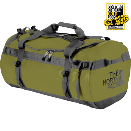 Camp and Hike The North Face Base Camp Duffel is an expedition classic. Its heavy-duty fabric withstands a lifetime of abuse, and its alpine-cut shoulder straps allow for comfortable carrying as a backpack. Cram this duffel full of gear for an Everest expedition or pack it for a Thanksgiving family reunion. You can practically pack your own yak in the extra large version's 155-liter compartment. Two internal mesh pockets hold small items, and the D-shaped zipper gives exceptional access to every corner. Daisy chains make it easy to tie the Base Camp Duffel to a car roof rack or camel. Four compression straps make the cargo manageable. - $99.95