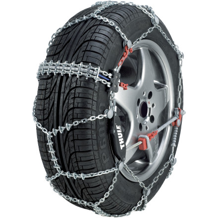 Entertainment Snow cover roads can be a p.i.t.a. just to drive, let alone getting out of your car to install cumbersome tire chains in finger-freezing temps. Thule addresses both these issues with their easy-to-install CS-10 Snow Chains for Cars. With the CS-10, mounting time's reduced and simplified, while driving in slippery conditions becomes less of a nightmare. - $206.95