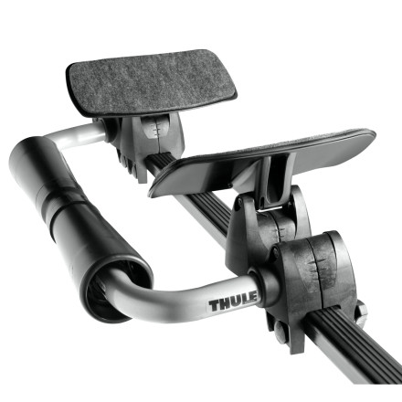 Kayak and Canoe The Thule Roll Model Kayak Rack makes it easier to load and unload your kayak onto your roof by yourself. Integrated rollers and saddles center the kayak on top of your vehicle every time. The four touchpoints are padded to conform to your boats hull. - $220.01