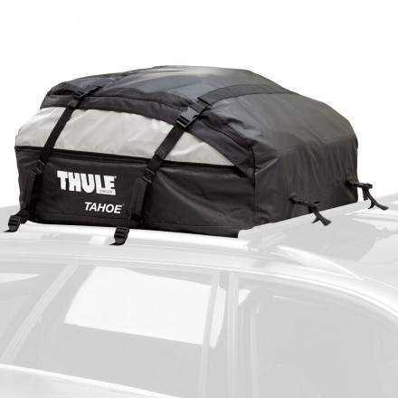 Entertainment When youre one of those people who bring it all when they head out on the road, load up the Thule Tahoe Cargo Carrier. With this behemoth roof bag, you have enough room for everything you need, and probably some stuff you dont. The Tahoe features reversible expansion zippers, so you can expand the bag from 15 cubic feet to 17 when your buddy decides to pack a little heavy. Tie down straps make it easy to attach the bag to nearly any factory or after-market rack system, and taped seams and durable water-resistant fabric make road trip rain showers no problem. When you return from your trip, pack the Tahoe down into its storage bag until the urge to hit the road strikes again. - $188.95