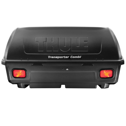 Camp and Hike The Thule Transporter Combination Hitch Cargo Carrier attaches to your vehicles hitch to store up to 150 pounds of extra camping and climbing gear for you next major road trip.Cargo box tilts down to allow for access to the rear of vehicle SecureLock safeguards against your gear getting spread out on the highway Pre-wired (four-pin) tail lights and license plate adapter included to keep the fuzz off your tail Drain plug in the bottom of the carrier for easy clean-up after a week in the desert Fits 1.25- and 2-inch receivers that are rated to class II or III One-Key lock included to secure gear - $476.96