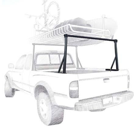 Fitness The Yakima Outdoorsman 300 Compact is a no-drill rack solution for trucks that holds gear up top, and leaves space in your truck bed. The Outdoorsman 300 clamps right onto the truck bed rails with no drilling required. It fits a wide range of truck beds, from compact to full size (see YAK0095), and is compatible with any Yakima accessory for full multi-sport capability. With heavy duty construction, the Outdoorsman 300 can handle up to 300lbs. Requires round bars that match truck width, sold separately. OUTDOORSMAN 300 SOLD INDIVIDUALLY (pictured black above). GET TWO FOR A PAIR (as pictured above). - $167.20