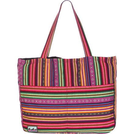 Surf Pack the Billabong Women's Along For The Ride Tote and take advantage of the Indian summer weather by taking a trip to the beach. This large tote holds everything you need to enjoy one last day of bathing and relaxing. - $25.64