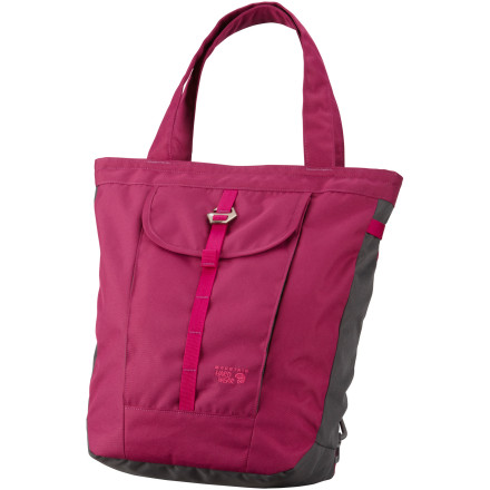 Camp and Hike The versatile Mountain Hardwear Garnet Packtote converts from a backpack to a tote bag with tuck-away shoulder straps. The Packtote also includes a laptop sleeve, fleece-lined media pockets, and durable 600D construction. - $84.95