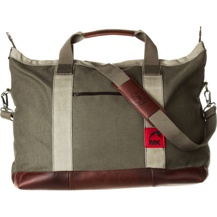 Whether you need to carry around a bunch of mediocre essays or bring some produce home from the market, the Mountain Khakis Signature Tote can accommodate your load while also complementing your earthy but classy look. A canvas body, leather bottom, and leather details provide sophisticated style and stand up to the test of time. - $179.95
