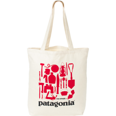Entertainment When you go a little overboard on your summer squash and melon purchases, the Patagonia Canvas Bag helps you easily haul the goods across town from the farmers market to your kitchen. - $20.00