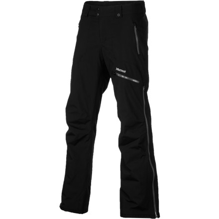Ski Take care of your lower half with the Marmot Women's Starstruck Pant. Constructed with waterproof and breathable MemBrain shell fabric, fully taped seams, and water-resistant zippers, the Starstruck can stand up to the toughest conditions your mountain can muster. The Thermal R insulation keeps you warm on chilly days, and zippered leg vents let you ditch some excess heat when you're hiking out the ridge for some sidecountry pow. - $123.72
