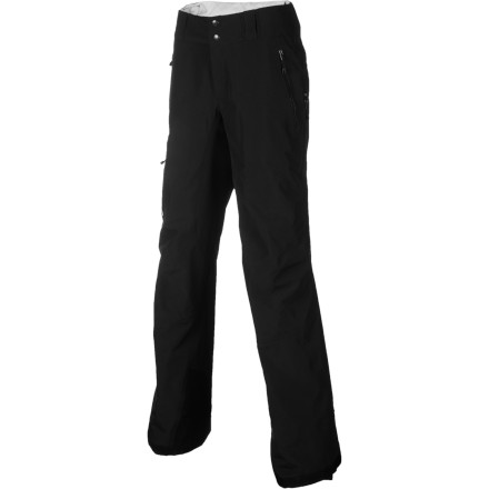 Snowboard The 3-layer Gore-Tex Patagonia Women's Primo Pant gives you excellent weather protection and breathable comfort so you can hike the ridge and ride through powder. Made from Patagonia's waterproof recycled polyester and lined with wicking taffeta, the Primo Pants prevent both snow and sweat from soaking your legs. Abrasion-resistant panels protect the seat, thighs, and lower legs from wear and tear, and scuff guards on the leg hems keep your boards from shredding your pants. Full side zips offer superior ventilation and allow you to get the pants on and off over boots. Gaiters stop the fluff from getting in your boots, and articulated knees let you move freely as you tele or alpine ski. - $219.45