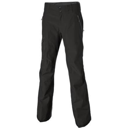Ski Whether youre riding the lifts or waking up at 5 a.m. to catch a few shots of backcountry powder, get big mountain protection from the Patagonia Womens Powder Bowl Pants. This heavy duty winter pant features a recycled polyester shell backed by a waterproof breathable Gore-Tex 2L membrane that keeps the moisture outside, no matter what form it takes. The soft mesh lining slides easily over layers, and articulated knees and a gusseted crotch allow for full movement. Full gaiters keep the snow out of your pant legs, and a slew of pockets hold your camera, lip balm, and other mountain essentials. When this pant has been through the grinder, send it back to Patagonia to be recycled through the Common Threads Recycling Program. - $194.35