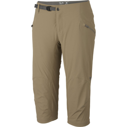 Slide through brush and slither along rugged mountain trails with the durable, lightweight Mountain Hardwear Women's Ancona Trek Capri. - $39.98