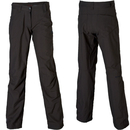 Camp and Hike Navigate the thick underbrush wearing the tough Mammut Women's Niala Pant on your next day in the wild. The durable fabric's Teflon finish repels water and dirt so you can plow through overgrown trails like a bulldozer. If you spend the night in the bush, stuff these super-compressible pants in your backpack in case you find a rough patch of trail. - $44.48