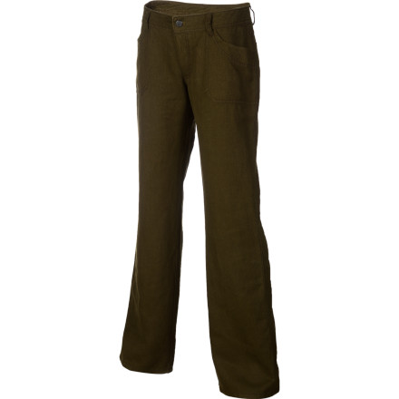 Camp and Hike Kick back and relax at camp after a successful day at the crag, a cold drink in hand and your Patagonia Women's Hemp Overstone Pants keeping you comfortable. Made with a blend of hemp and polyester twill, the rugged Hemp Overstone Pants readily accompany you to the crag and back to camp for a bonfire and brews. - $35.60