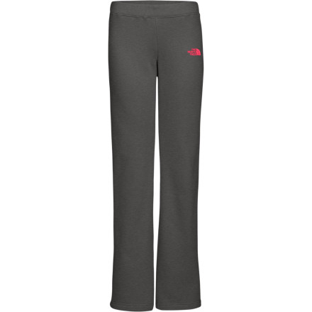 For instant comfort after a long day on the slopes, slip into The North Face Women's Half Dome Pant. Other gals may just borrow some sweats from their partner, but not you. You'll much rather wear the Half Dome, and kick back in style and comfort. Its comfy cotton-poly fleece fabric keeps you warm on chilly nights around the lodge fire or late-night marathons with your favorite TV show. A flattering boot cut, ribbing-encased waistband, and embroidered logo at the hip mean you won't look like a schlub while you're at it. - $44.95