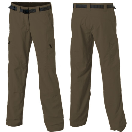 Camp and Hike Water, wrinkles, UV rays, and the general rigors of travel are no match for the Ex Officio Womens Nio Amphi Pant. Whether youre doing the tourist thing in Europe or backpacking in the Rockies, these lightweight, protective, and quick-drying pants are possibly the only pair youll need. Ex Officio added plenty of pocket storage for your daily essentials and zippered ankle gussets for venting or rolling up your pant legs. - $48.75
