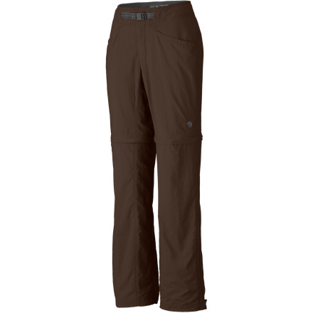Camp and Hike When your alter ego as a super crusader of the outdoors comes a calling, you won't need to find a telephone booth to switch between pants and shorts. The Mountain Hardwear Ramesa Convertible Pant easily converts when the world needs saving (or the temps change drastically). - $51.97