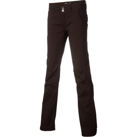 Camp and Hike Hop into your prAna Women's Halle Pants, throw your climbing gear in your car (if it's not already in there), and make a quick escape up the canyon to dig your fingers into some stone. These rugged bottoms might look like casual trousers, but they are tough enough to handle  aggressive approaches. - $41.22