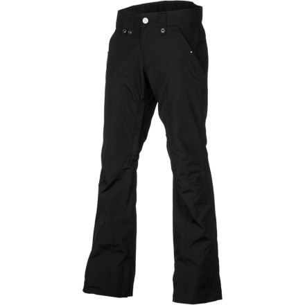 Snowboard Sporting a slim but functional design, the Bonfire Women's Echo Pant is the easy way to up your on-mountain style and stay dry when the storms dump fresh snow for you. This sleek and chic pant combines a streamlined look with a whole lot of creature comforts to make sure that your lower bits feel good during every minute you spend on the snow. - $55.98
