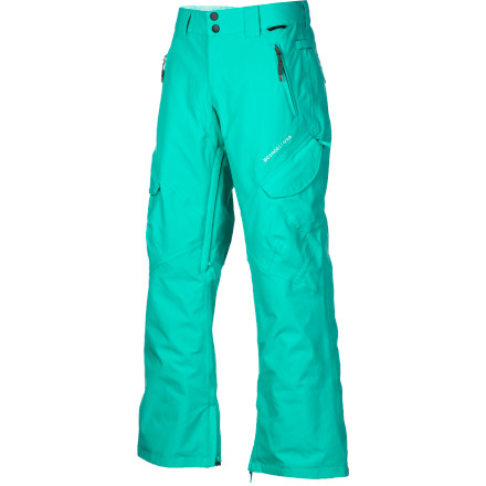 Snowboard From park laps to backcountry pow missions, you can rely on the DC Royal Women's Snowboard Pant to keep your legs warm and dry. It has 40g synthetic insulation to add a touch of warmth for most days, and there's room to layer underneath for when the mercury really starts dropping. When it warms back up in spring, open up the mesh-lined inseam vents and get some cool air flowing, and there's plenty of pockets to hold your beers, er ... sodas. - $100.00