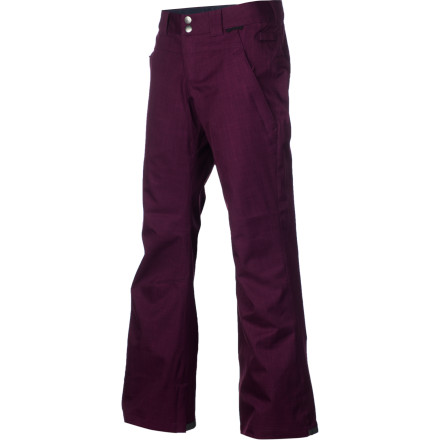 Snowboard Bold colors, durable and weather-resistant material, and a skinny fit with ergonomic tailoring make the DC Women's Contour Pant a pair of five-pocket shred pants so flattering and comfortable you won't want to take them off. - $70.00