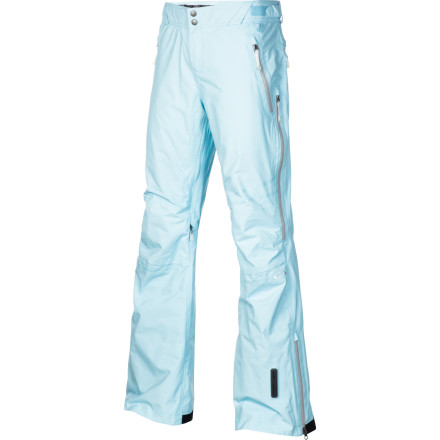 Snowboard Move like your mama showed ya in the Oakley Women's Moving Pant. That is, if your mama ripped up the whole hillside wherever, whenever. Whether it be dumping, freezing, or blowing, you'll find your groove and go big in two-layer, guaranteed waterproof and breathable Gore-Tex, fully taped seams, and waterproof zippers. And with an adjustable waistband, you can also go big at apres. - $245.00