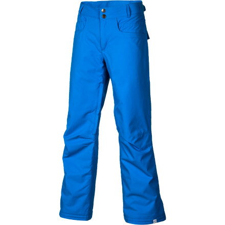 Snowboard Slide into the Roxy Women's Evolution Pant, zip up your jacket, grab your snowboard gear, and make your way to the resort to carve up those freshly groomed slopes. Thinsulate insulation warms your bum on chilly lift rides, while mesh-lined vents ditch excess heat when you hike the park or pipe. This pant's regular fit provides a simple, timeless style that lasts and pairs well with your multitude of jackets (depending on the color, of course). - $77.00