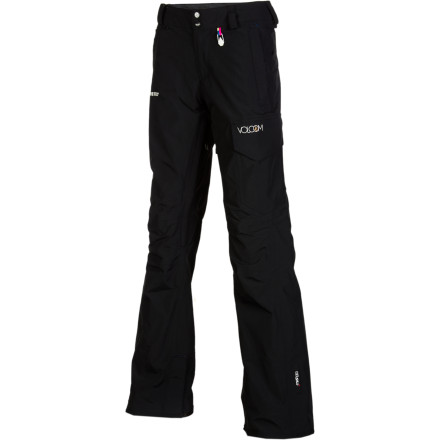 Snowboard Whether you're ripping up the resort Tahoe-style or heading into the backcountry for a week-long tour in the Cascades, the Volcom Women's Elfin Gore-Tex Pants deliver hardcore protection from heavy precip so you'll stay dry wherever you go. - $104.98